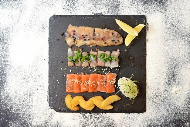 Geassorteerde gezouten vis
