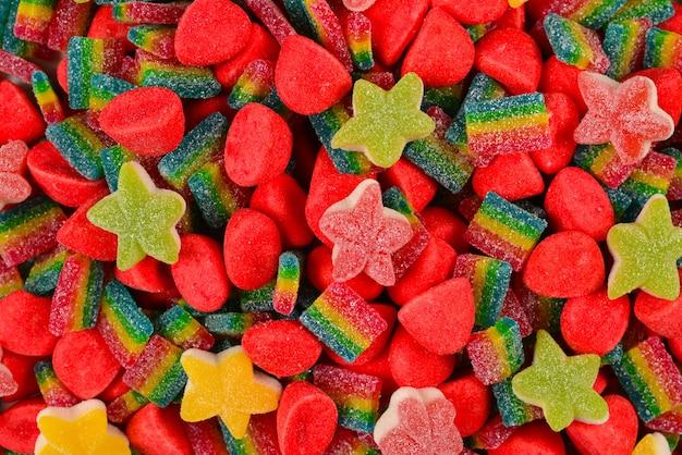 Geassorteerde kleurrijke gummy snoepjes snoep