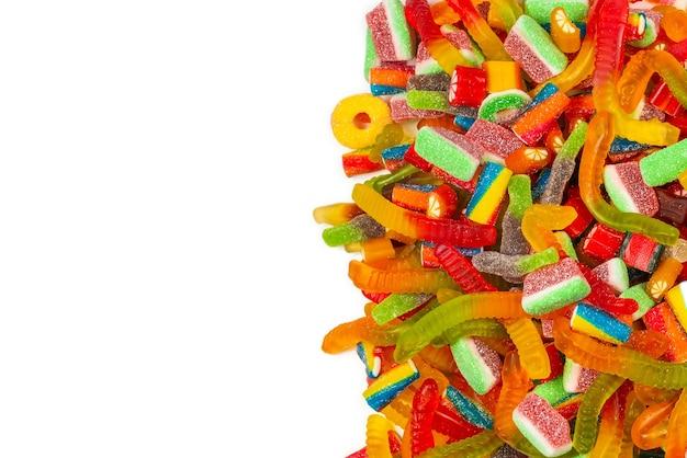 Geassorteerde smakelijke kleverige suikergoed
