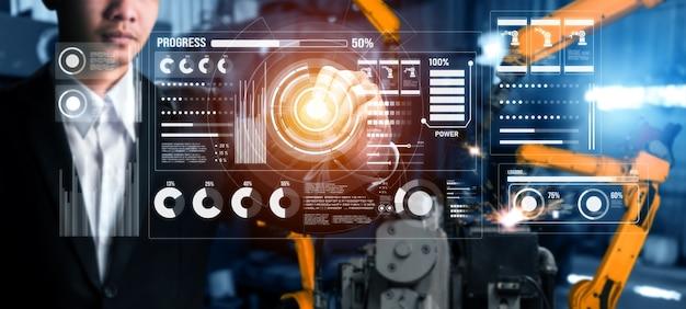 Geavanceerd robotarmsysteem voor digitale industrie en fabrieksrobottechnologie