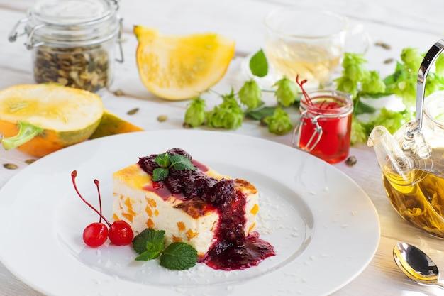 Gebak dessert zoetwaren bakkerij culinair seizoensgebonden menu gezonde voeding concept