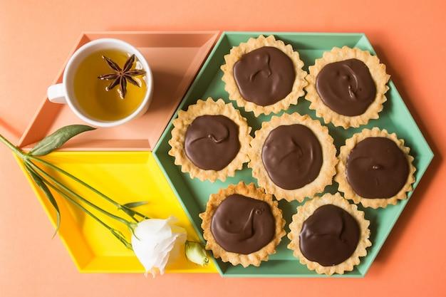 Gebak, koekjes, suiker chocolade dessert