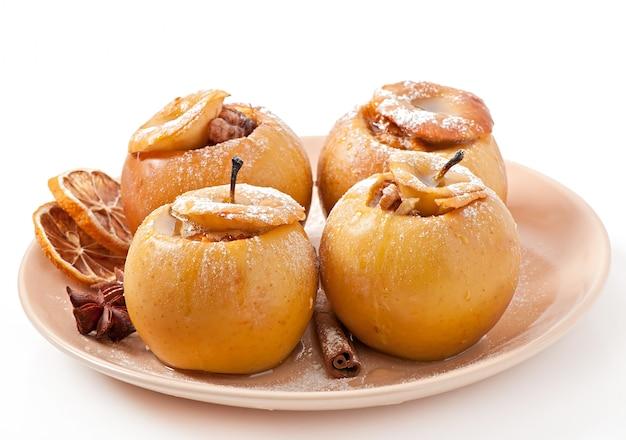 Gebakken appels met honing en noten