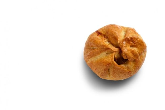 Gebakken broodjesclose-up. isoleren.