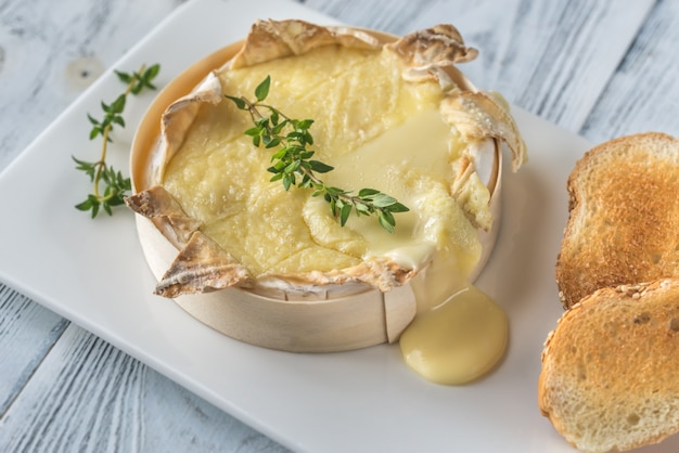 Gebakken camembert-kaas