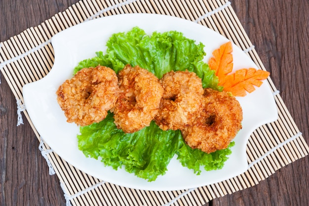 Gebakken garnalencake, thais eten