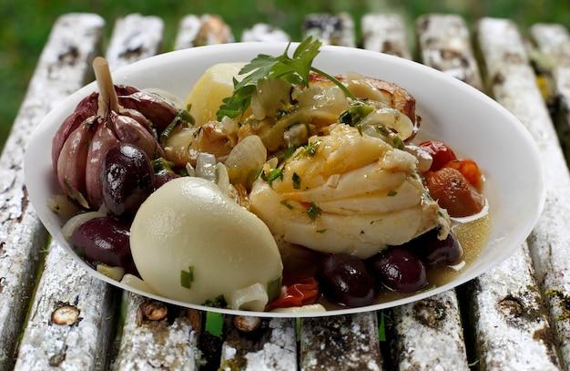 Gebakken kabeljauw met olijfolie