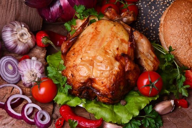 Gebakken kip met groenten