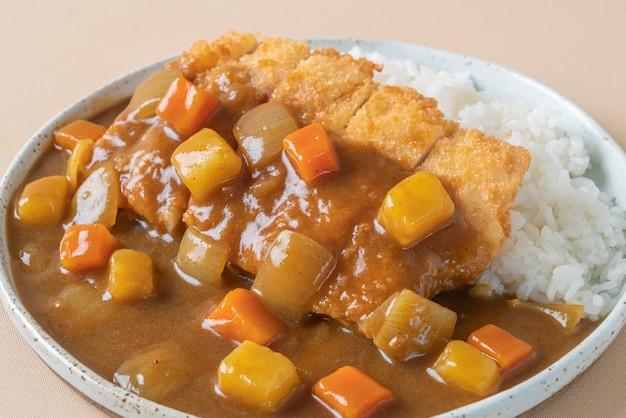 Gebakken kipkotelet curry met rijst