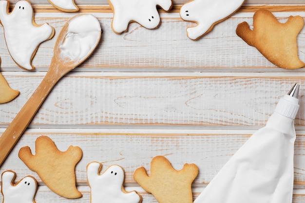 Gebakken lekkernijen voor halloween frame