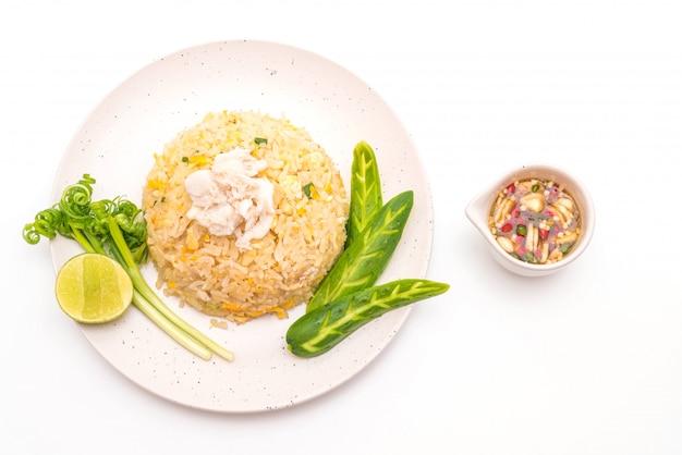 Gebakken rijst met krab