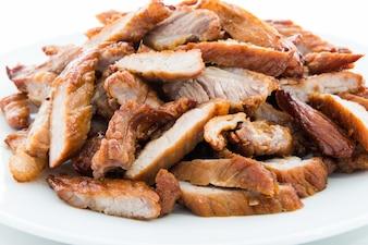 Gebakken rundvlees met knoflook