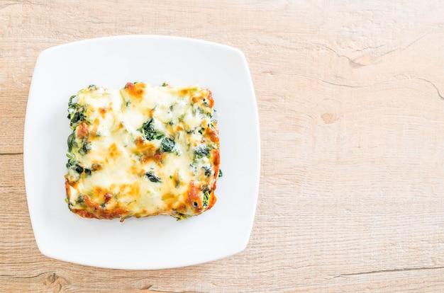 Gebakken spinazie met kaas