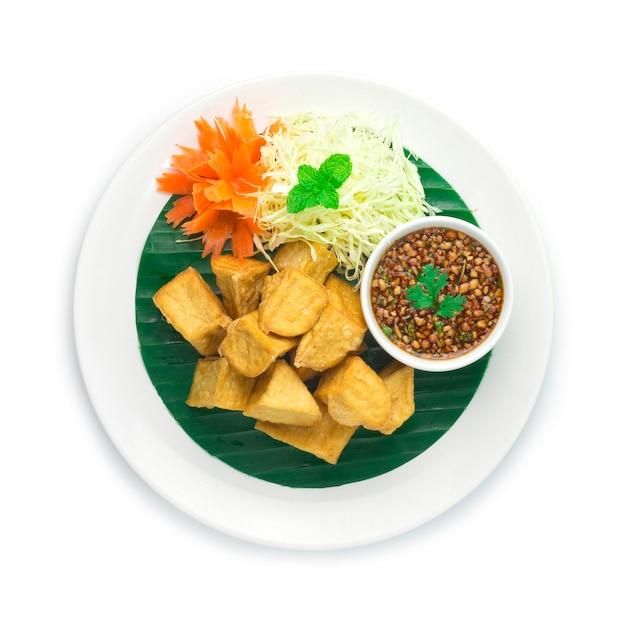 Gebakken tofu vegetarisch eten