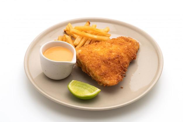 Gebakken vis en chips