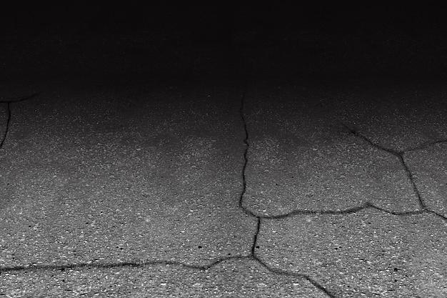 Gebarsten asfalt