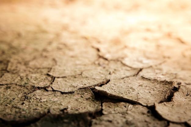 Gebarsten droge bodem grond ecologie systeem crisis global warming problemen concept
