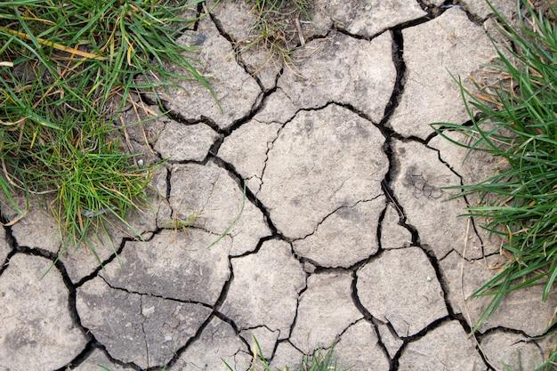 Gebarsten gedroogde aarde textuur