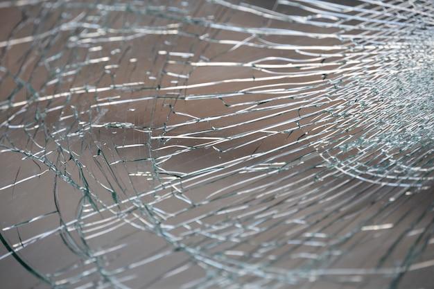 Gebarsten glas, de spiegel barst textuur.