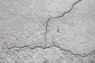 Gebarsten modder oppervlak, modder