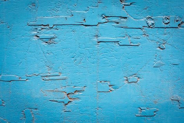 Gebarsten muur geschilderd in blauw - achtergrond - patroon.
