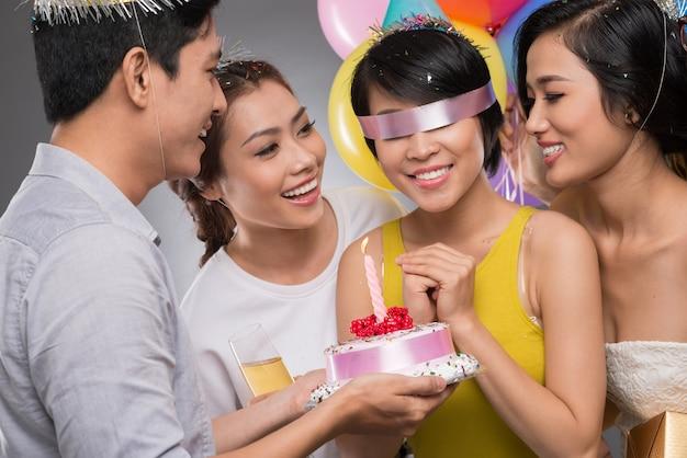Geblinddoekt feestvarken