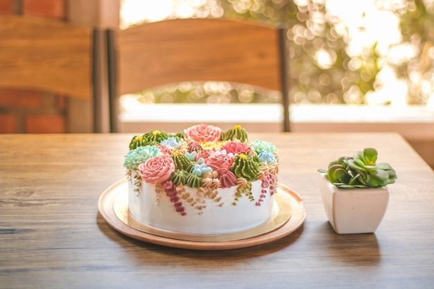 Geboorte dag cake in viering