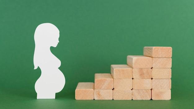 Geboortecijfer vruchtbaarheid concept