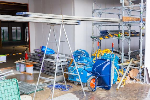 Gebouw in aanbouw werkende site plaats