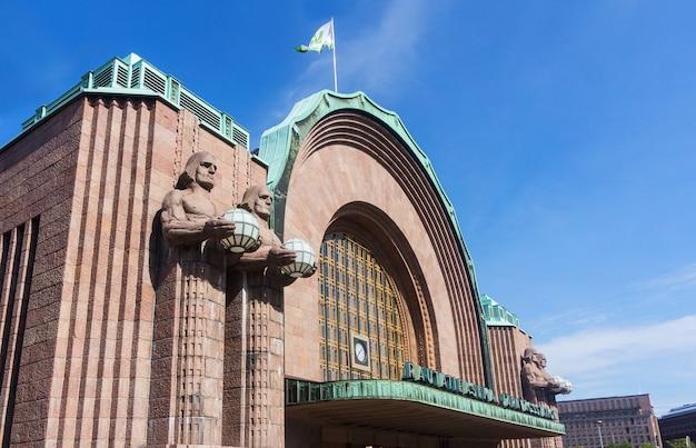 Gebouw van het centraal station, helsinki, finland