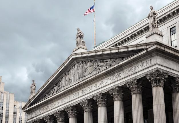 Gebouw van het hooggerechtshof van de staat new york