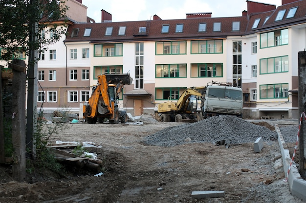 Gebouw wazig bouw achtergrond