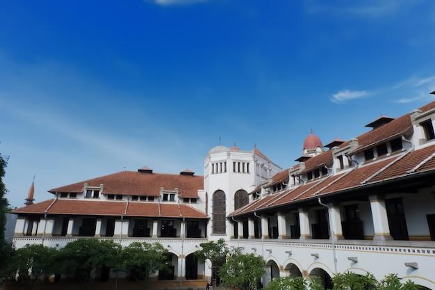 Gebouwen en architectuur, de bestemming van lawang sewu, semarang, indonesië