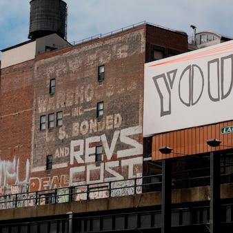 Gebouwen in manhattan, new york city, verenigde staten