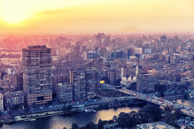 Gebouwen van caïro, de hoofdstad van egypte.