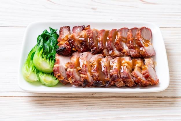 Gebraden barbecue rood varkensvlees