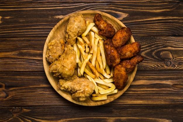 Gebraden kip en frites