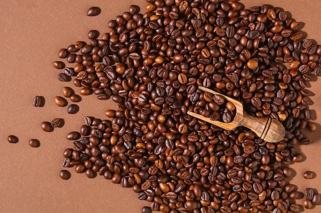 Gebrande bruine koffiebonen