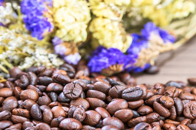 Gebrande koffiebonen heap