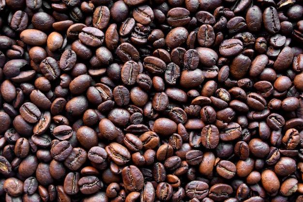 Gebrande koffiebonen textuur achtergrond