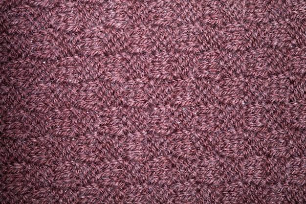 Gebreide bruine sjaal textuur.