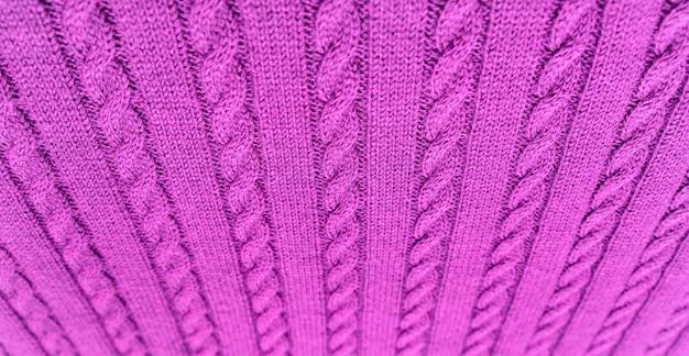 Gebreide deken. zachte en warme stof. textuur voor achtergrond