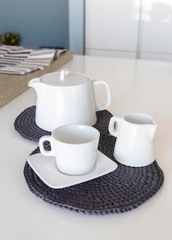 Gebreide tafelslijtage voor in de keuken