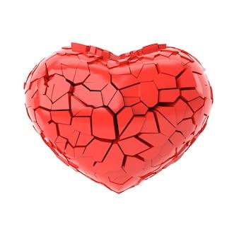 Gebroken hart. 3d-weergave