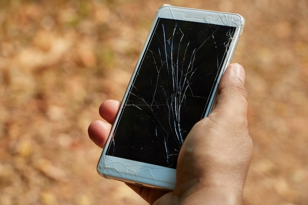 Gebroken scherm mobiel