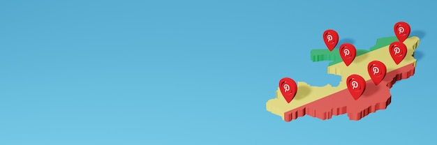 Gebruik van 5g pinterest in republiek congo voor de behoeften van sociale media-tv en website-achtergronddekking