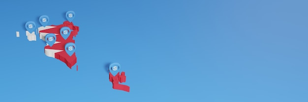 Gebruik van skype in bahrein voor de behoeften van sociale media-tv en website-achtergronddekking lege ruimte