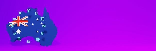 Gebruik van zodiac in australië voor de behoeften van sociale media-tv en website-achtergronddekking