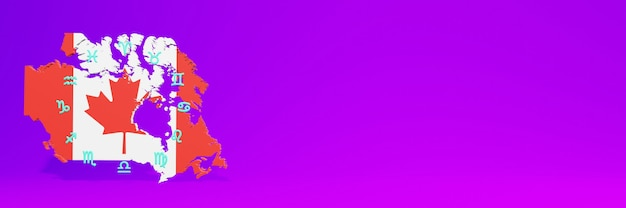 Gebruik van zodiac in canada voor de behoeften van sociale media-tv en website-achtergronddekking lege ruimte