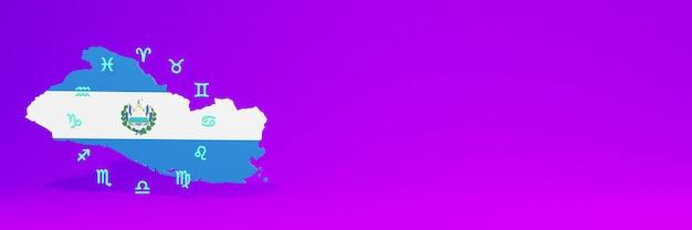 Gebruik van zodiac in el savador voor de behoeften van sociale media-tv en website-achtergronddekking